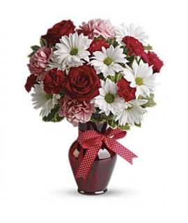 Bouquet Calins, Baisers et Roses Rouges